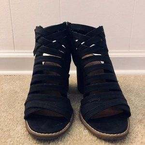 Universal Thread strappy black booties